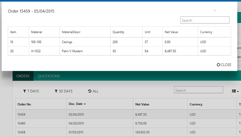 Bussiness Integration App Kundenstammblatt