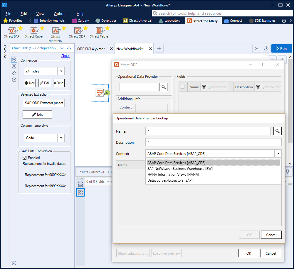 Xtract for Alteryx ODP